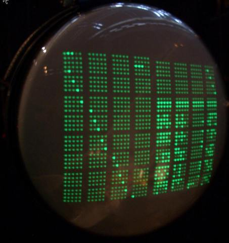 Cathode ray tube screen used for storing data (David Link)